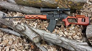 Картинка Снайперская винтовка Крупным планом Ствол дерева Оптический прицел Boar-12 Армия