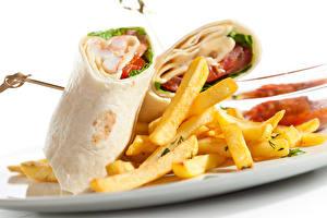 Обои Быстрое питание Картофель фри Burrito Пища