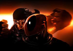 Обои Deadpool герой Герои комиксов Marvel Comics Фантастика