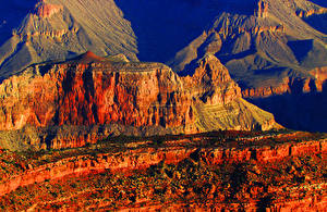 Фото Горы Рассветы и закаты США Парк Гранд-Каньон парк Скала Каньон Arizona Природа