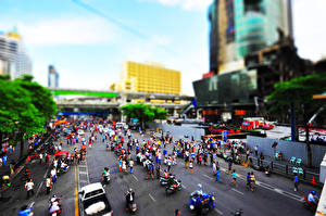 Фотографии Дороги Люди Улица Asia Города