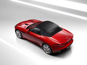 Картинки Ягуар Красные Металлик 2016 F-Type S convertible AWD Автомобили