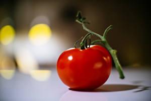 Картинка Помидоры Вблизи Красный Еда