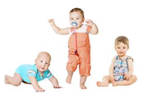 Картинка Втроем Младенца Мальчик Дети