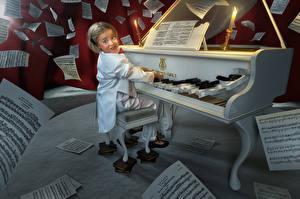 Обои Рояль Девочки Pianist Юмор 3D_Графика