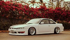 Картинка Ниссан Сбоку Белые Silvia S14 stance машина