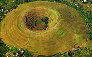 Картинки Африка Сверху Kisoro District, Western Uganda