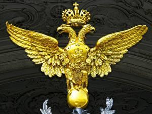 Фотографии Санкт-Петербург Россия Герб Двуглавый орёл Winter Palace