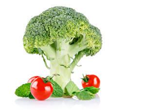 Фото Овощи Капуста Томаты Брокколи Пища