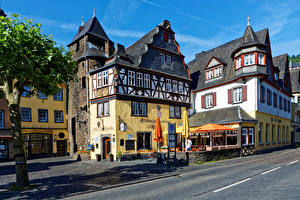 Фото Германия Здания Кохем Улица