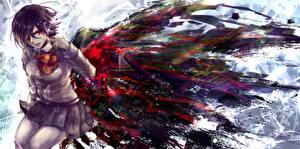Картинка Кровь rine mikoto, tokyo ghoul, kirishima touka Девушки