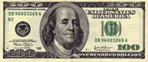 Обои Доллары Деньги Купюры Крупным планом 100 Franklin, federal