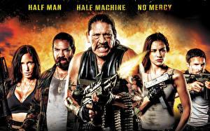 Картинки Автоматы Мужчины Danny Trejo Выстрелил Cyborg X, Eve Mauro, Angie Papanikolas, Adam Johnson, Rocky Myers Кино Девушки Знаменитости