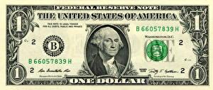 Фотография Деньги Купюры Вблизи Доллары 1 Washington, Federal Reserve Note