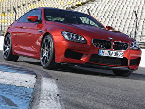 Фото БМВ Спереди Красный Фары M6 Coupe Competition Package машины
