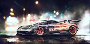 Картинки Pagani Need for Speed Тюнинг Сбоку Huayra Speedhunters Yasid Design Автомобили