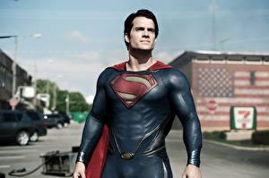 Фотографии Супермен герой Генри Кавилл Мужчины Man of Steel Henry cavill Фильмы Знаменитости