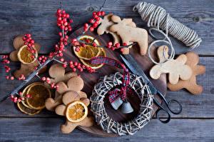 Фотографии Печенье Крупным планом Выпечка Колокольчики - Цветы Ветки Еда