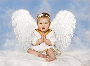 Фотография Ангелы Младенец Крылья Дети