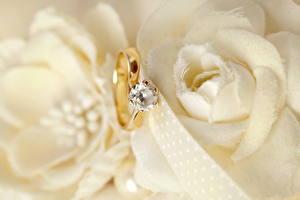 Обои Вблизи Украшения Бриллиант Свадьба Кольцо