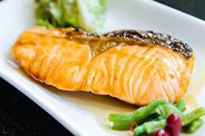Обои Морепродукты Рыба Крупным планом Еда