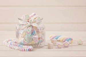 Фото Конфеты Сладости Вблизи Банка sweets Еда