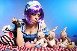 Картинки Игрушки Зайцы Девушки