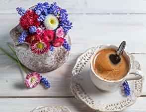 Обои Кофе Вблизи Напитки Чашке Блюдца Вазы Еда Цветы