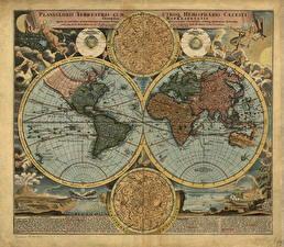 Картинка География Географическая карта World, Continents,1663