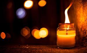 Фотография Свечи Пламя Банке