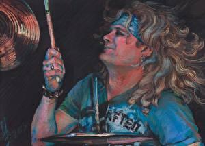 Картинка Мужчины Рисованные Drummer