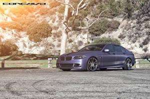 Картинка BMW Фиолетовая Сбоку Concavo F10 Matte Purple CW-S5 DBX машина