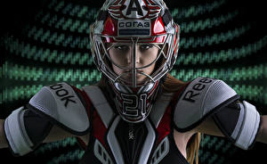 Картинки В шлеме Взгляд спортивный Девушки