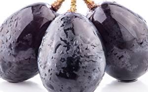 Обои Виноград Крупным планом Фрукты Трое 3 Пища