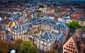 Фото Франция Дома Страсбург Сверху