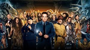 Обои для рабочего стола Ben Stiller Мужчины Owen Wilson Night at the Museum: Secret of the Tomb кино