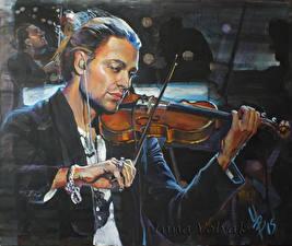 Картинки Мужчины Рисованные Скрипки David Garrett Музыка