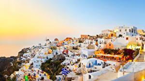 Картинка Греция Здания Фира Города