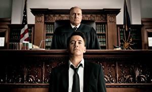 Картинка Мужчины Robert Downey Jr Двое Галстук The Judge, Robert Duvall кино Знаменитости