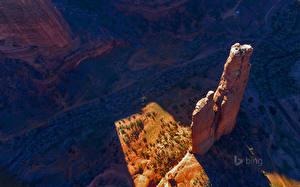 Фотографии Америка Парки Каньон Скалы Arizona Spider Rock Canyon de Chelly National Monument Природа