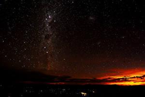 Фото Небо Звезды Ночь milky Way Космос