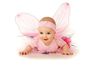 Картинка Бабочки Младенец Крылья ребёнок