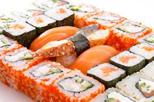 Картинка Морепродукты Суши Пища Еда