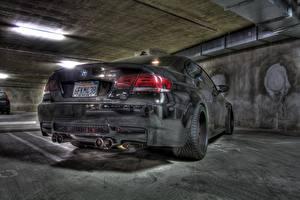 Фотография BMW Сзади Черный HDR m3 e92 машины
