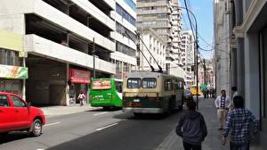 Картинка Здания Чили Дороги Вальпараисо Улица город