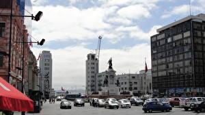 Фотография Дома Небо Чили Дороги Вальпараисо Улица город