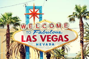 Фото Америка Логотип эмблема Старинные Пальма Лас-Вегас Невада vintage Города