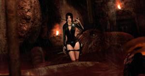 Картинка Tomb Raider Underworld В купальнике Лара Крофт Игры Девушки