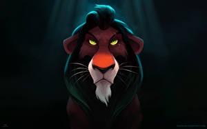 Обои Король Лев Львы Взгляд Морда Scar Мультики фото