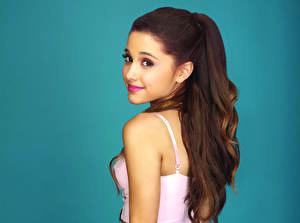 Фотография Волосы Взгляд Шатенка Ariana Grande Знаменитости Девушки